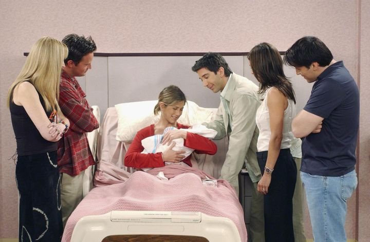 """An image from the episode """"The One Where Rachel Has A Baby: Part 2,"""" which aired on May 16, 2002."""