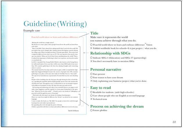全35ページに及ぶ募集要項の1ページ。文章の構成や要素、写真のフォーマットなどを細かく規定し、「誰が読んでも一通りの意味にとれる」要項を目指して作成したという