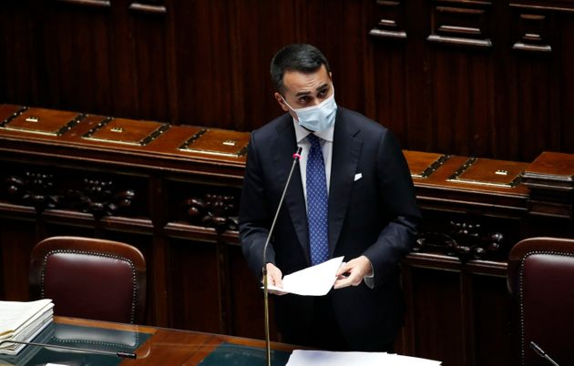 Foreign Minister Luigi Di Maio during the information on security in the Mediterranean in the Chamber...