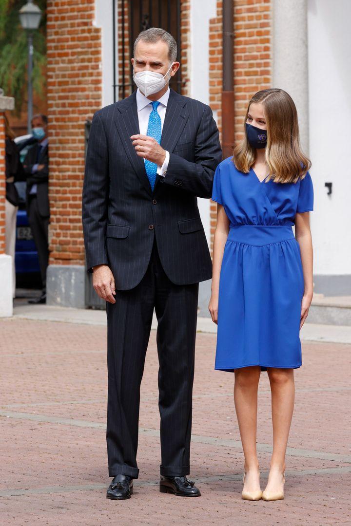 Leonor, con Felipe VI