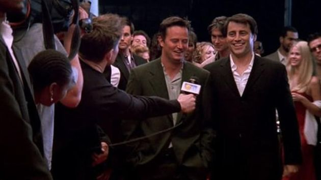 Ben made an appearance as a red carpet reporter