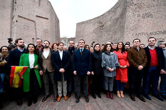 La foto de Colón, con Vox, PP y