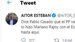Aitor Esteban avisa a Casado de lo que puede pasar y se lleva 6.000 'me gusta' en tres