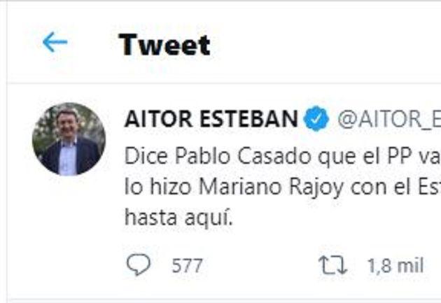 El tuit viral de Aitor