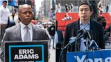 Eric Adams, left, and Andrew Yang are both close to big business and supportive of traditional policing. Progressives are trying to decide who is a bigger threat to their priorities.