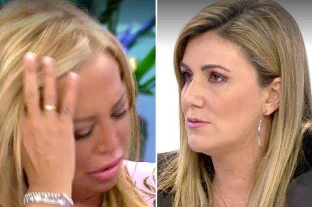 Belén Esteban y Carlota Corredera, en 'Sálvame Deluxe'