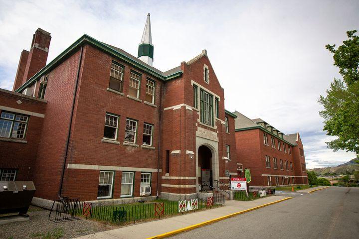 The former Kamloops Indian Residential School is seen on Tk'emlups te Secwépemc First Nation in Kamloops, British Colu