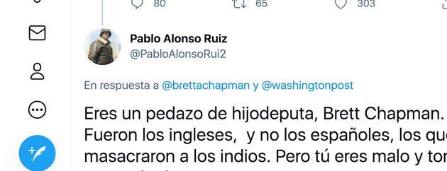 Un tuitero español insulta al abogado estadounidense Brett