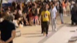 미국 메모리얼데이 연휴를 맞아 외국인 2000여명이 부산 해운대해수욕장에서 '노마스크‧술판' 소동을