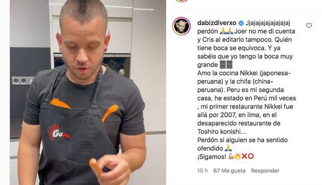 Comentario de Dabiz Muñoz