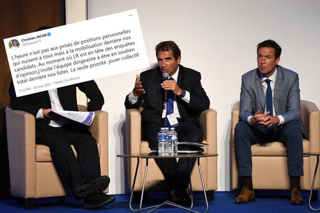 Christian Jacob, patron de LR et Guillaume Peltier, vice-président délégué du