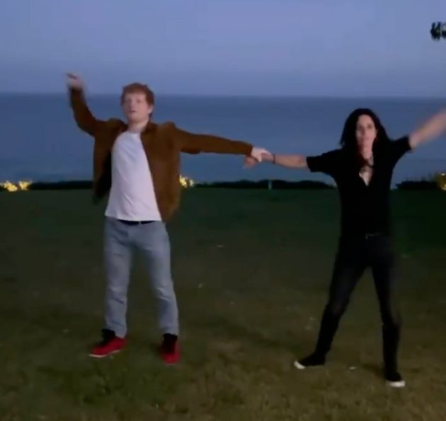 Ed Sheeran and Courteney Cox recreated 'The