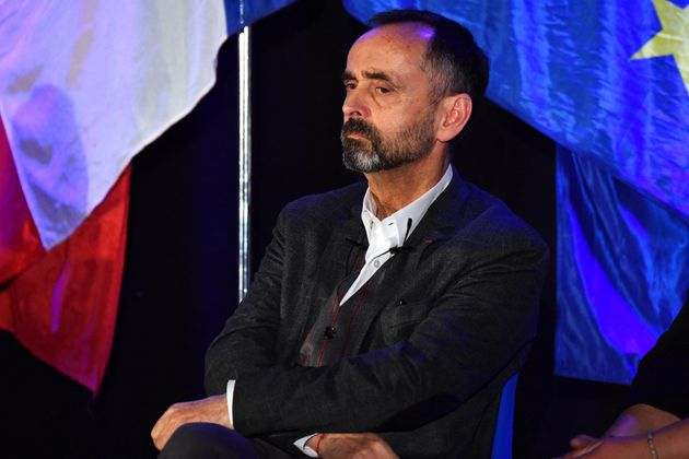 Le maire de Béziers Robert Ménard, photographié lors de la campagne des municipales en mars 2020