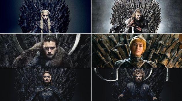 Daenerys, Ned Stark, Jon Snow, Cersei, Sansa y