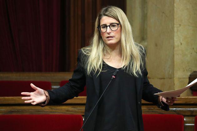 La portavoz de Junts, Elsa Artadi, en el Parlament, el pasado 24 de
