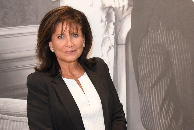 Anne Sinclair, ici en photo lors de l'inauguration de l'exposition