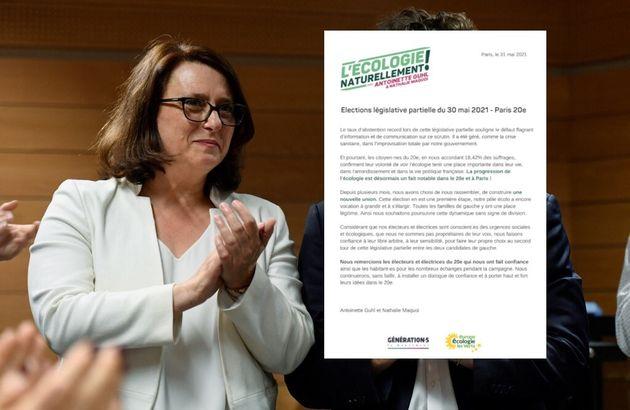 Entre PS et LFI, les Écolos, menés parAntoinette Guhl (ici le1er juin 2019) ne choisissent...