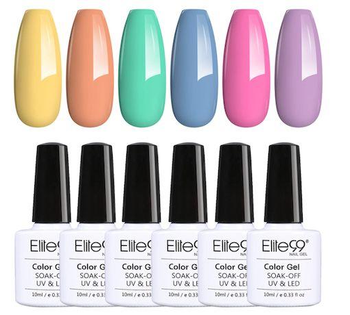 Esmaltes de uñas en color pastel