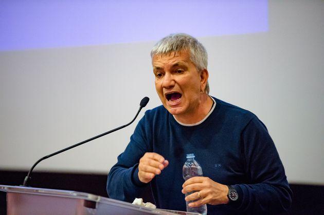 The former president of the Puglia Region Nichi Vendola in Bari at the Cinema Gallery to present the...
