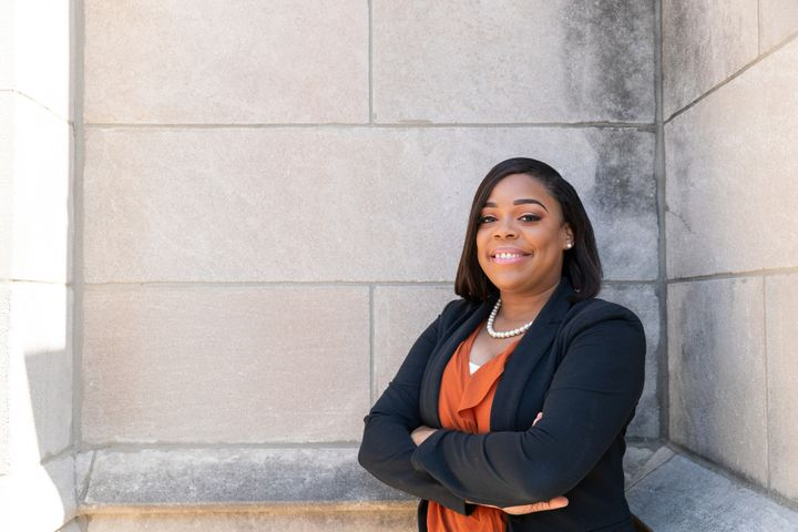 Kina Collins, 30, argues that Rep. Danny Davis' reliance on corporate campaign contributions undermines his service.