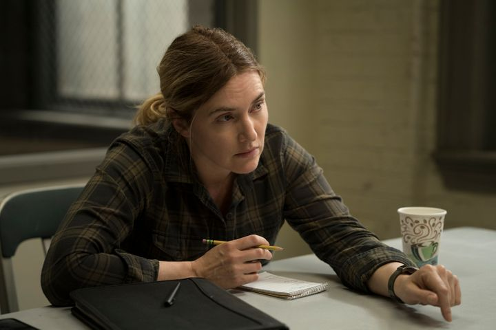 """Police detective Mare Sheehan (Kate Winslet) investigates a murder and a series of missing persons cases involving young women in HBO's limited series """"Mare of Easttown."""""""
