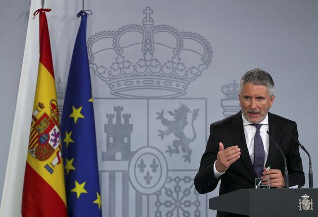 Fernando Grande-Marlaska, durante una reciente rueda de prensa en La