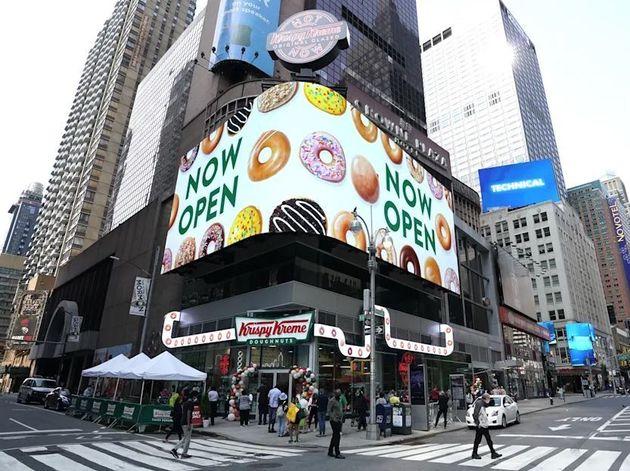 Crema crujiente de Times Square de Nueva York