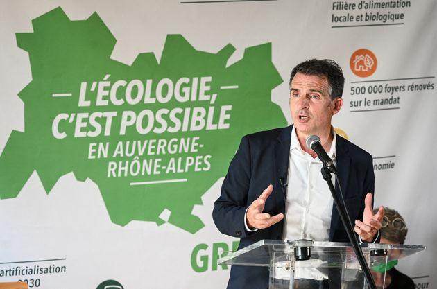 Le maire de Grenoble, Éric Piolle, lors d'une conférence de presse à Lyon le 26 mai