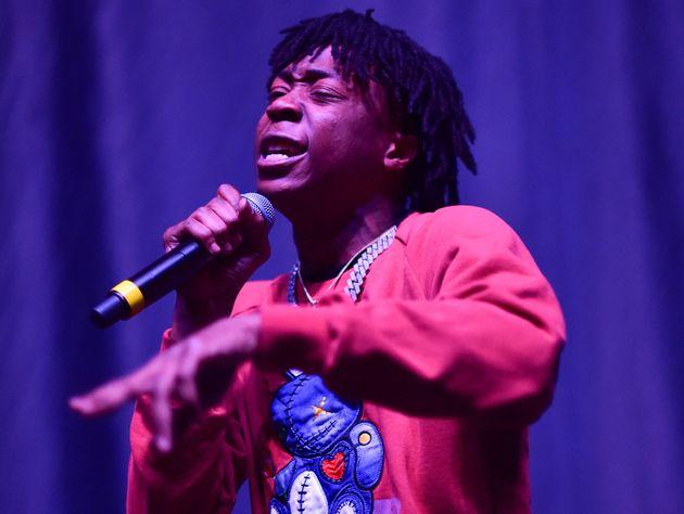 Le rappeur Lil Loaded lors du concert
