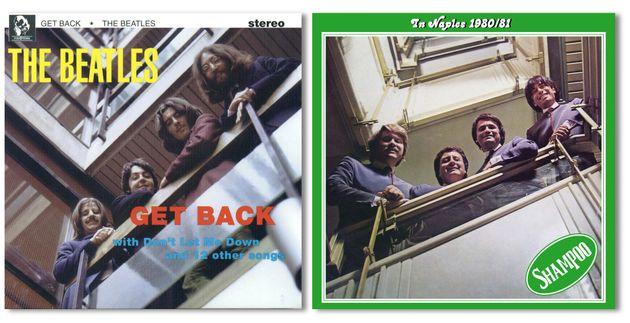 Le copertine del disco dei Beatles (1970) e degli Shampoo