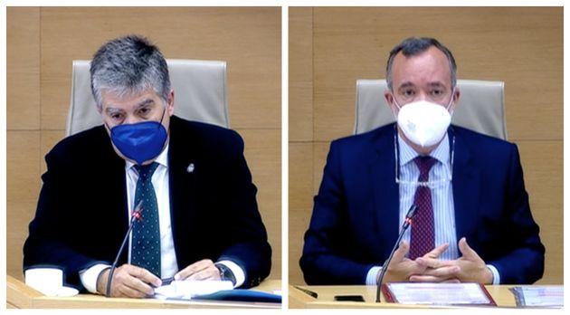 El exdirector de la Policía Ignacio Cosidó (izq) y el ex número dos de Interior Francisco González, este...