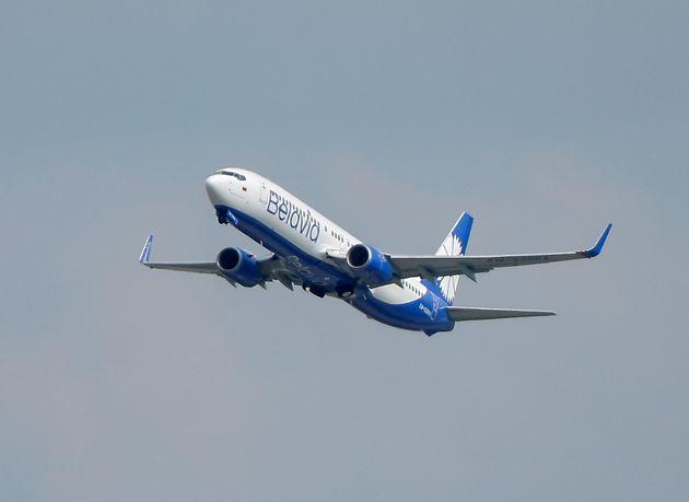 Un avion de la compagnie Belavia quittant l'aéroport de Domodedovo, le 28 mai