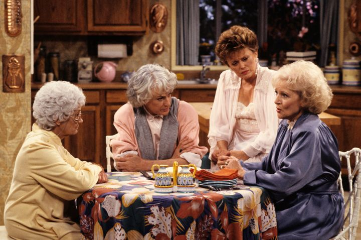 The Golden Girls were played by Estelle Getty (Sophia), Bea Arthur (Dorothy), Rue McClanahan (Blanche), and Betty White (Rose