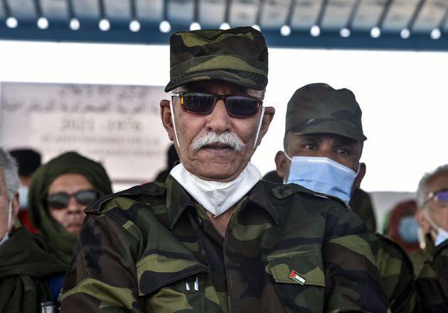 Brahim Ghali, el pasado febrero, en un acto en los campos argelinos de
