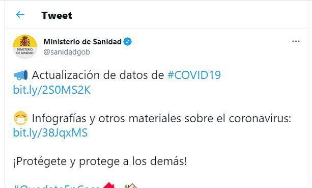 El polémico tuit del Ministerio de