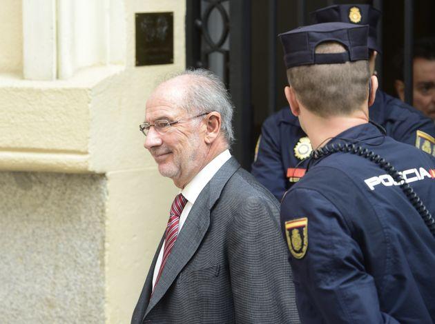 Rodrigo Rato, tras el registro de su oficina en