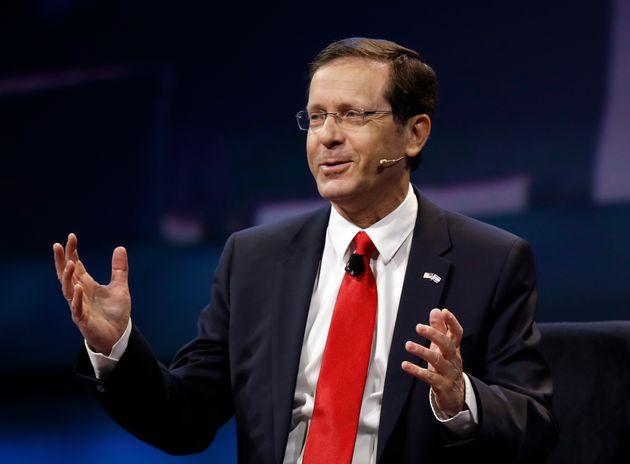 Isaac Herzog, durante una conferencia en EEUU en