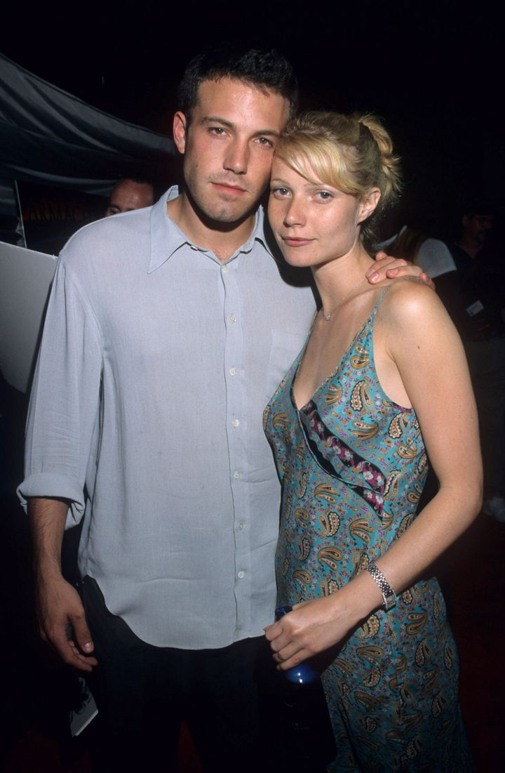"""Ben Afleck and Gwyneth Paltrow at the premiere of """"Armageddon."""""""