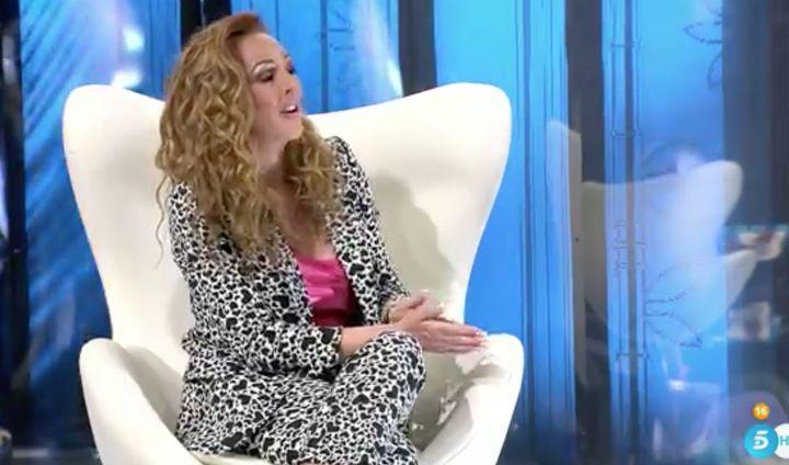 Rocío Carrasco en la entrevista de su último programa de la docuserie.