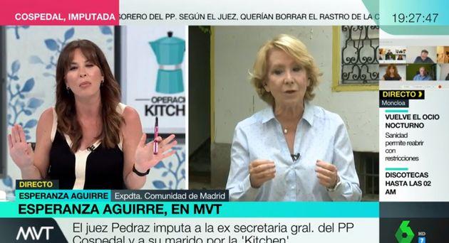 Mamen Mendizábal entrevista a Esperanza Aguirre en 'Más Vale