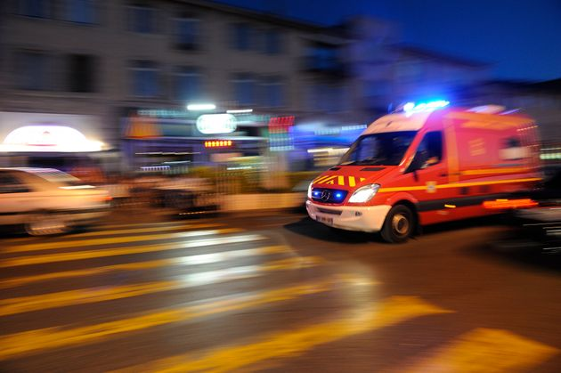 An ambulance responds to an emergency in Marseilles,