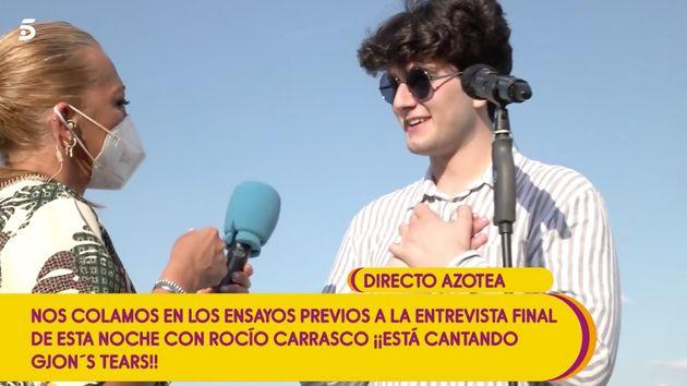 Belén Esteban entrevista a Gjons's Tears, representante de Suiza en