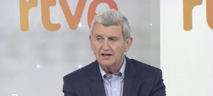 El nuevo presidente de RTVE en su encuentro con la prensa.