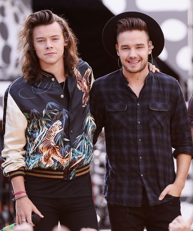 The pair in their One Direction