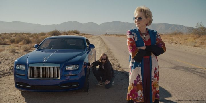 Ava (Hannah Einbinder) (left) and Deborah (Jean Smart) (right) stranded in the desert, in a scene from the HBO Max comedy ser