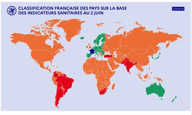 Classification des pays selon les indicateurs sanitaires au 2 juin