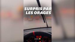 Ces Parisiens ont été surpris par des orages