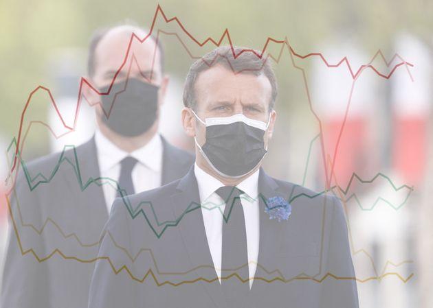 Emmanuel Macron et Jean Castex lors d'une commémoration à Paris