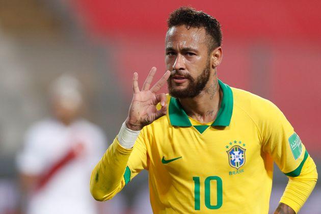 Neymar lors d'un match de qualification pour la Coupe du monde 2022 face au Pérou le 13 octobre