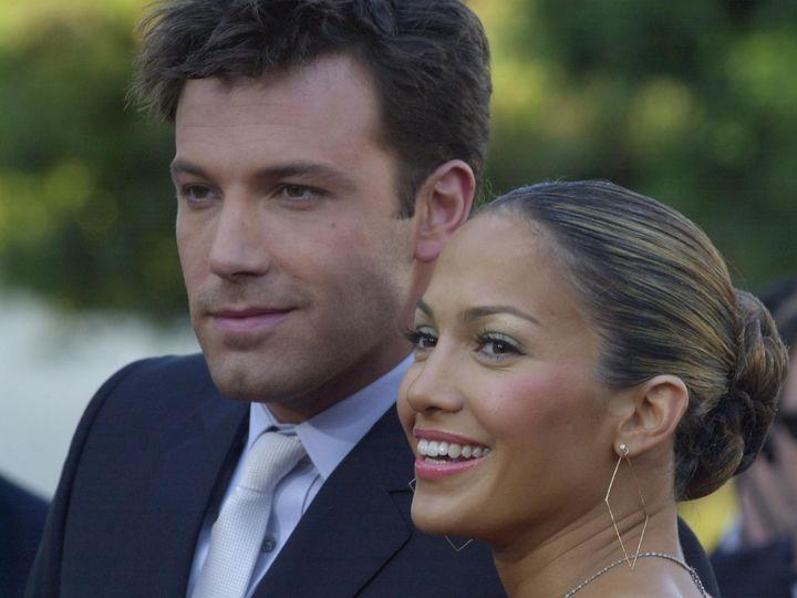 Jennifer Lopez y Ben Affleck, en 2003